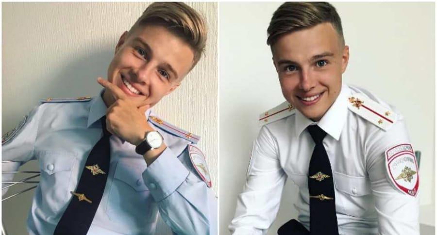 Policía ruso famoso.