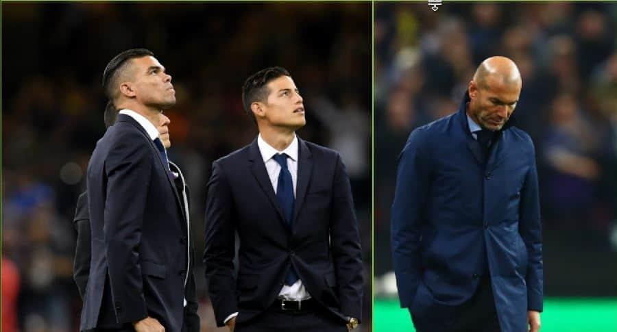 Pepe, James y Zidane