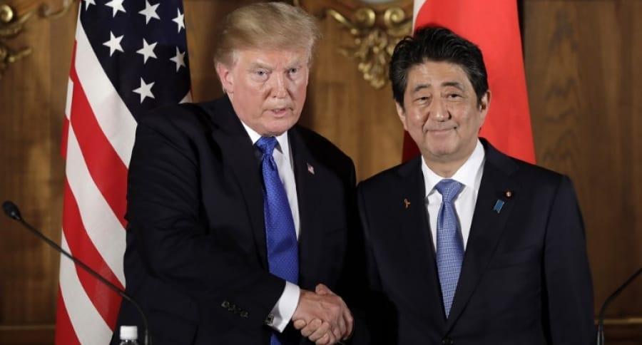 Donald Trump y Shinzo Ab