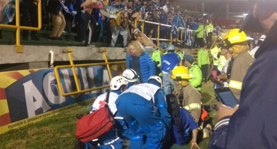 Emergencia en el estadio La Libertad