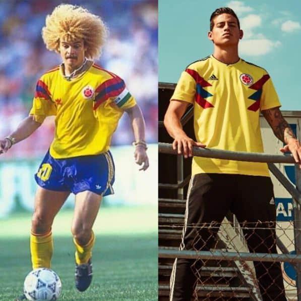 8a7cb5e8d5e La nueva camiseta de la Selección evoca el diseño de la camiseta suplente  que se utilizó en el Mundial de Italia 90.