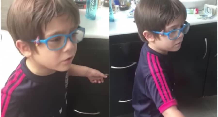 Niño paisa que se volvió hincha del Junior. Pulzo.