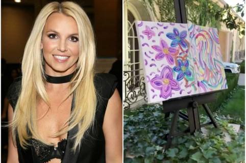 Pintura de Britney Spears.