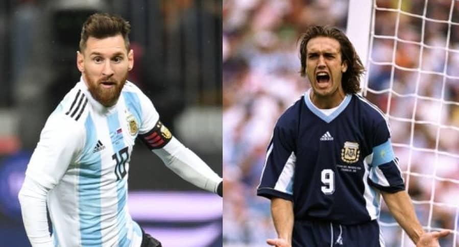 Messi y Batistuta
