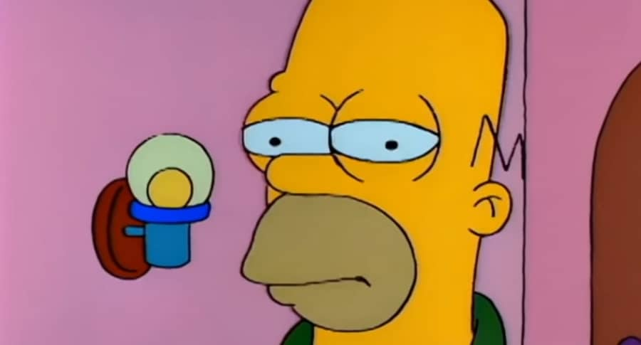 Homero vestido de novia
