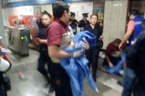 Parto en metro de Ciudad de México