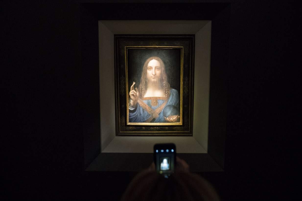 """Pintura """"Salvator Mundi"""" de Leonardo da Vinci"""