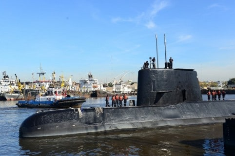 Submarino de la flota argentina