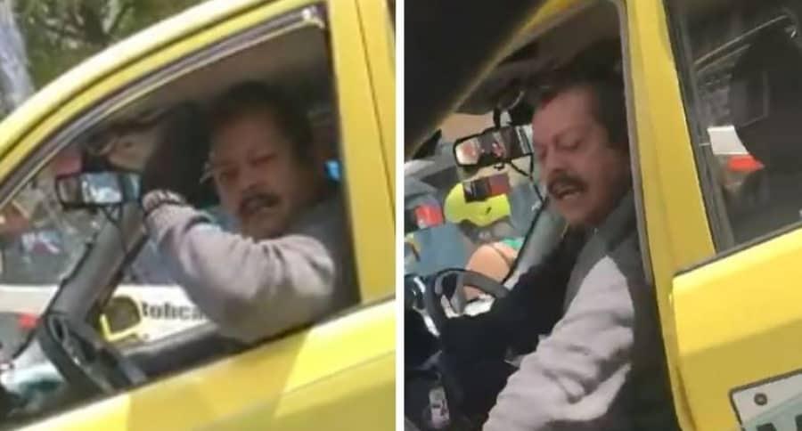 Taxista agresivo