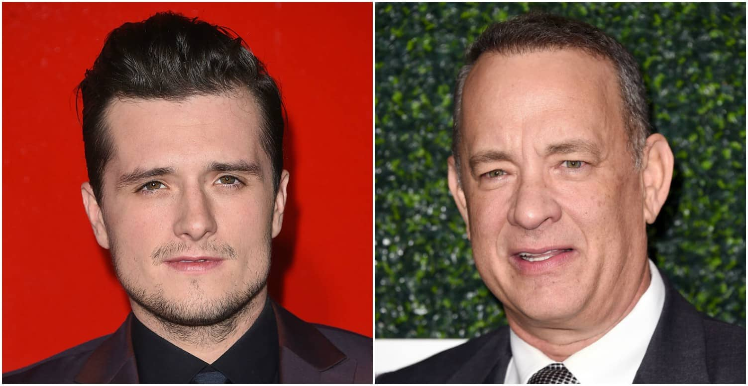 Josh Hutcherson y Tom Hanks. Pulzo.