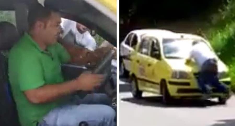 Taxista agresivo que arrastró a conductor con su carro