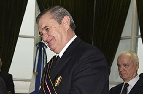 Jefe de la Armada, almirante Marcelo Eduardo Hipólito Srur