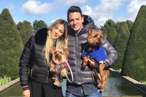 Karin Jiménez, modelo, y su esposo Santiago Arias, futbolistas.