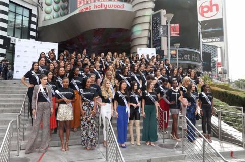 Candidatas a Miss Universo en Las Vegas