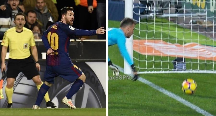 Gol que no le dieron a Messi