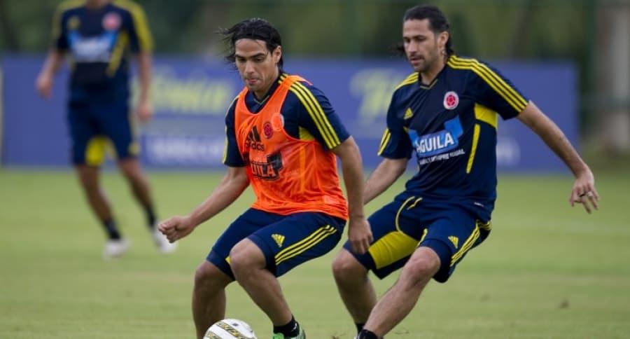Radamel Falcao García y Mario Yepes