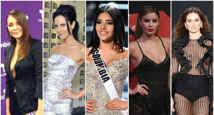 Virreinas universales colombianas (Carolina Gómez, Paola Turbay, Laura González, Ariadna Gutiérrez, Taliana Vargas)