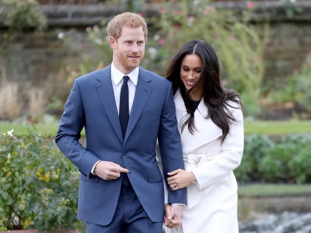 Príncipe Harry y su prometida Meghan Markle