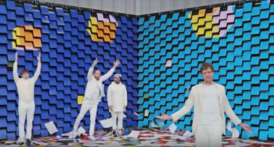 Imagen del grupo OK Go.