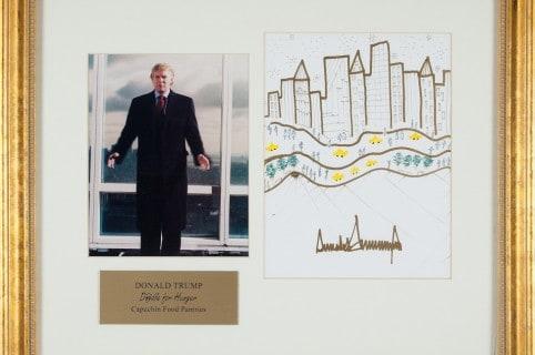 Dibujo de Donald Trump