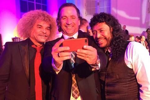 Carlos Valderrama, Juan Antonio Pizzi y René Higuita