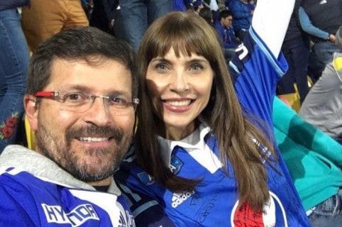 Julio César Herrera y Lorena Meritano, actores.