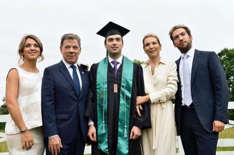 María Antonia, Juan Manuel Santos, Esteban Santos, María Clemencia Rodrígez y Martín Santos, familia presidencial