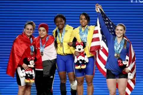 Medallistas de los 69 kg en el Mundial de Halterofilia