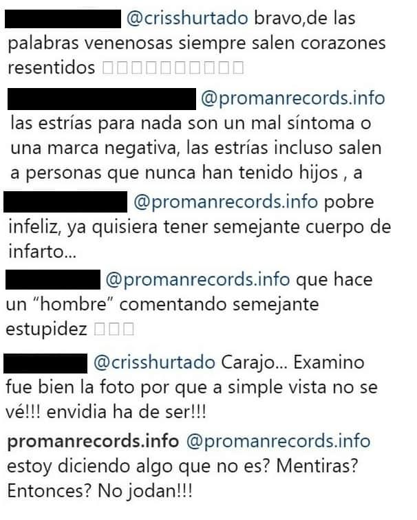 Comentarios foto Cristina Hurtado