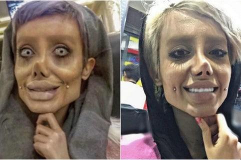 Sahar Tabar joven zombi Angelina Jolie