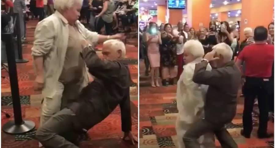 Abuelos bailan reggaetón. Pulzo.