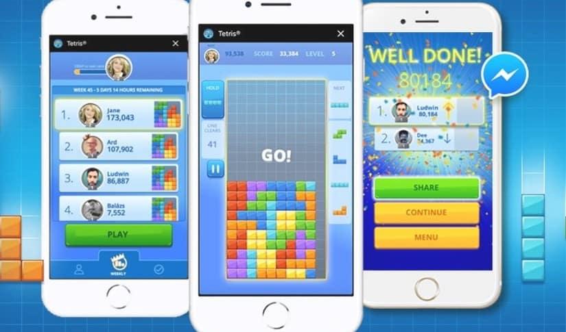 Tetris en Facebook Messenger