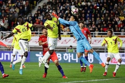 Partido amistoso Colombia vs. Corea. Pulzo.
