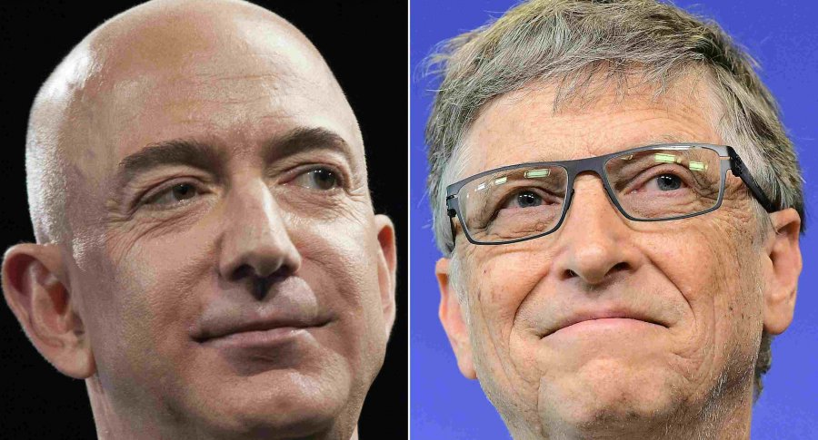Jeff Bezos y Bill Gates