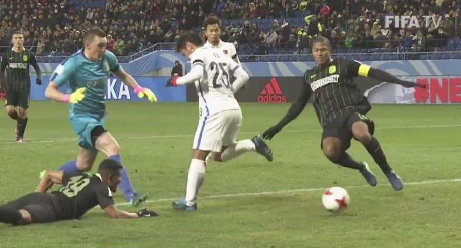 Gol de Kashima a Nacional