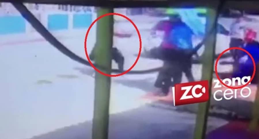 Momento en el que es asesinado Jhon Jairo Polo Ramos