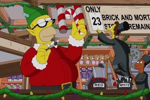 Homero en 'intro' navideño de 'Los Simpson'.