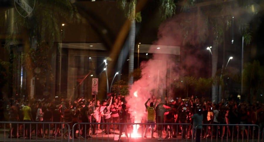 Recepción a Independiente en Río de Janeiro