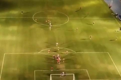 Dron en entrenamiento de Independiente