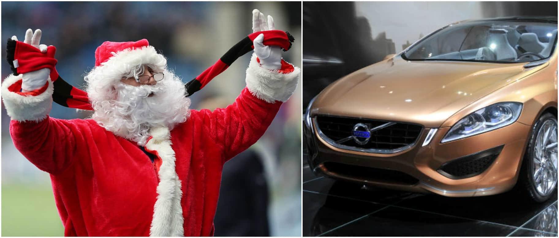 Papá Noel y un Volvo. Pulzo.com