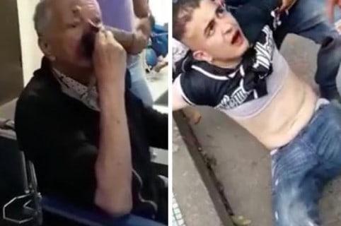 Abuelito golpeado por delincuente (foto derecha)