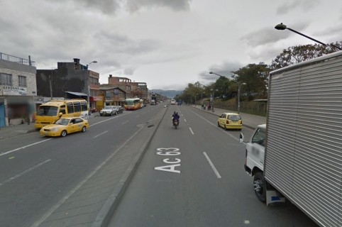 Avenida calle 63 con carrera 111, localidad de Engativá