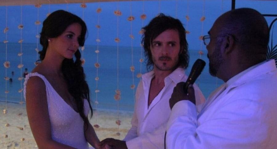 'Maleja' Restrepo, actriz, y su esposo, el motocrosista 'Tatán' Mejía.