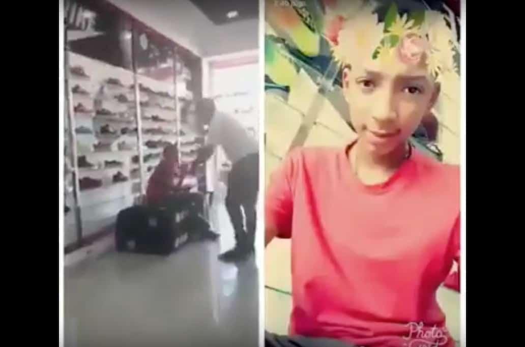 Padre golpea a su hijo por publicar foto con flores en la cabeza. Pulzo.