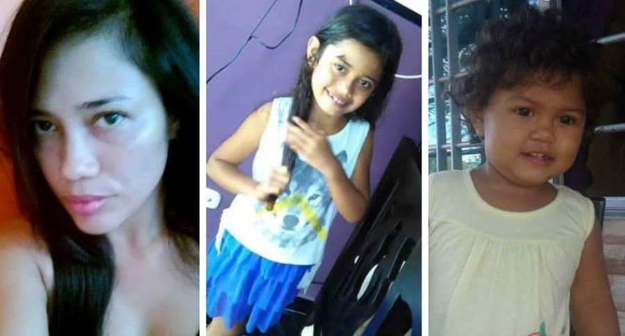 Natalia Reyes y sus dos hijas (de 9 y un año) desaparecidas