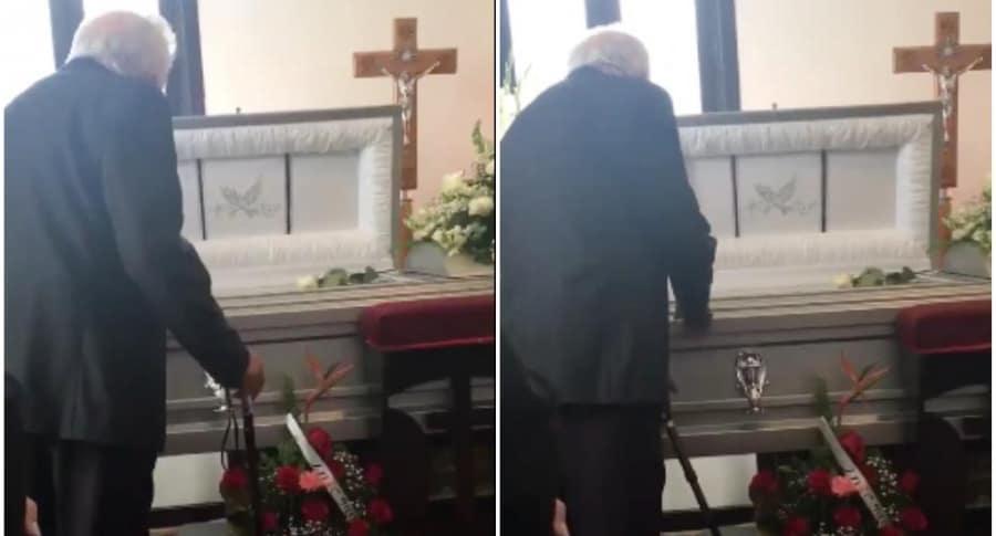Abuelo le canta a su esposa fallecida.