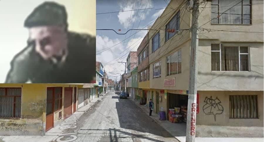 Foto del sicario. Barrio Jardín de Bosa, sitio donde ocurrió el crimen