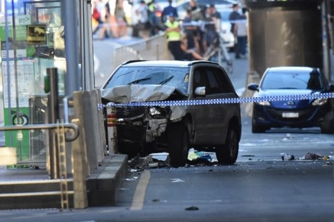Choque de carro en Melbourne