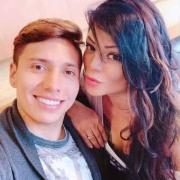 Sebastián Salazar, futbolista, y su novia Marbelle, cantante.
