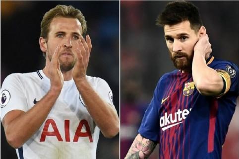 Harry Kane y Lionel Messi